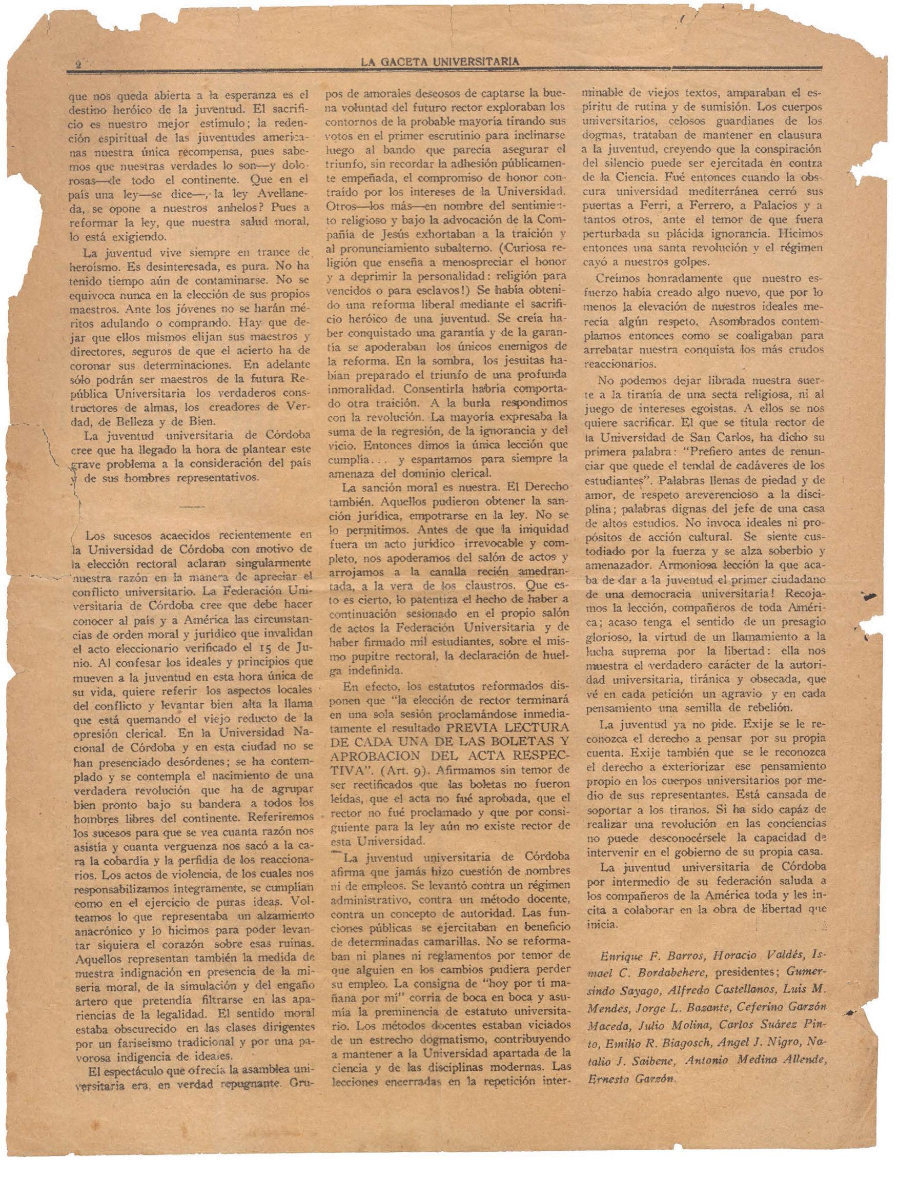 En qué consistió la Reforma Universitaria de 1918? - NODAL